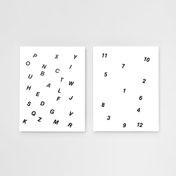 Letters and Numbers Card