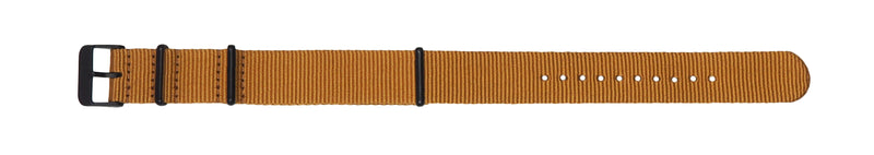 NATO band - Gold nylon, Black hardware