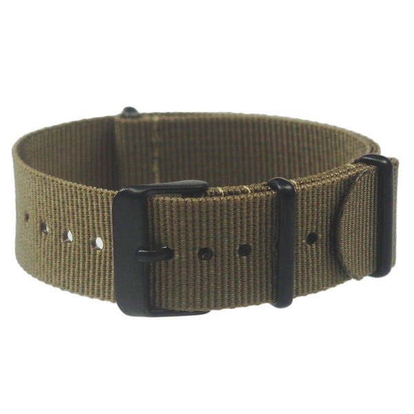 NATO band - Olive nylon, Black hardware