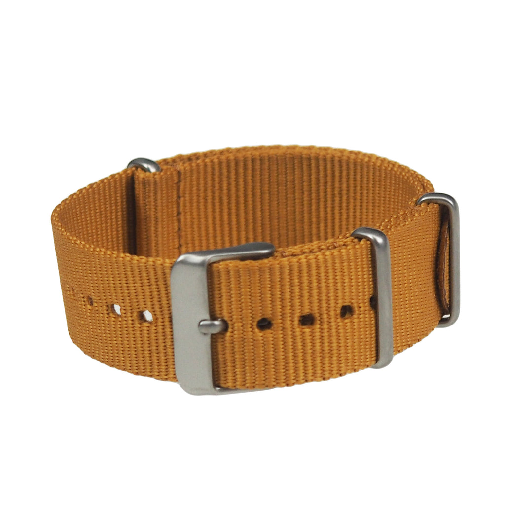 NATO band - Gold nylon, Stainless hardware