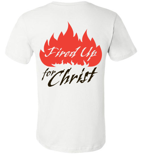 Jeremiah 20:9, Fired Up for Christ, Unisex T-Shirt, XS-YL