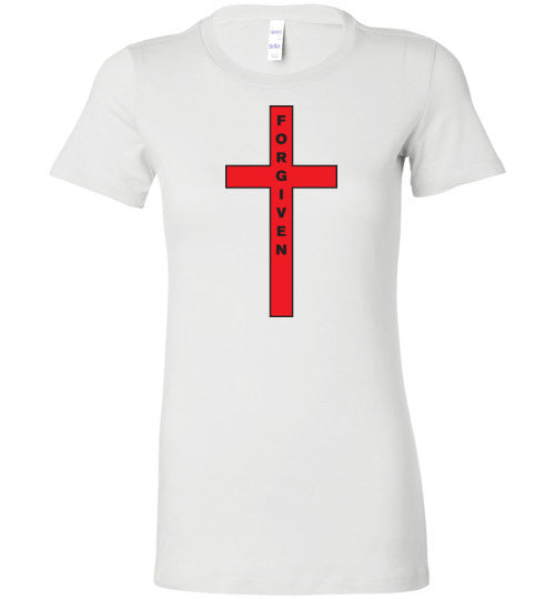 Isiah 53:5, At The Cross, Forgiven Ladies Favorite Tee, S-2XL
