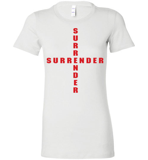 James 4:7, At The Cross, Surrender Ladies Favorite Tee, S-2XL