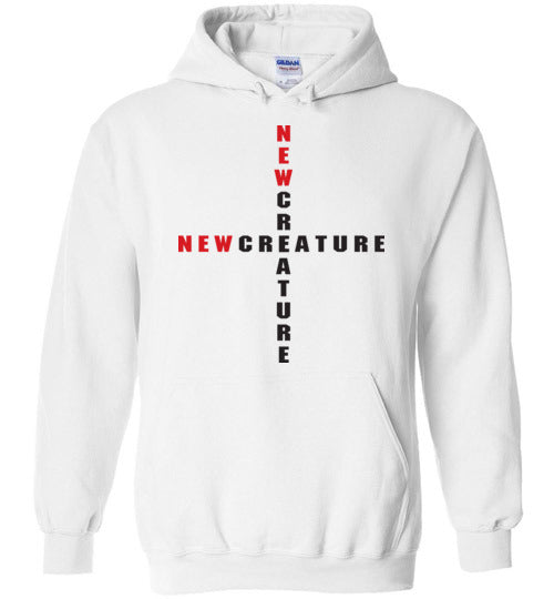 2 Corinthians 5:17, At The Cross, New Creature, Hoodie, S-YXL