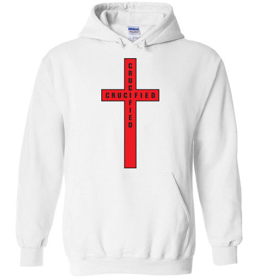 Isiah 53:5, At The Cross, Crucified Hoodie, S-YXL