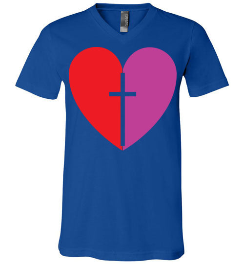 1 Corinthians 16:14, Love, Unisex V-Neck, T-Shirt, S-3XL