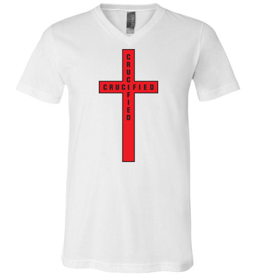 Isiah 53:5, At The Cross, Crucified Unisex V-Neck, T-Shirt, S-3XL
