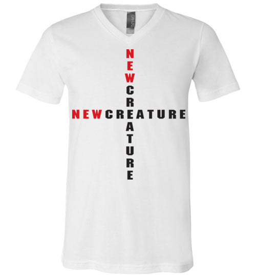 2 Corinthians 5:17, At The Cross, New Creature, Unisex V-Neck, T-Shirt, S-3XL