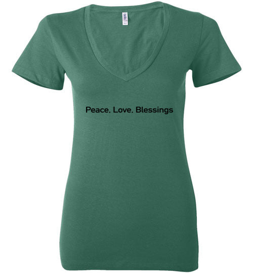 John 14:27, Peace, Ladies Deep V-Neck, S-2XL