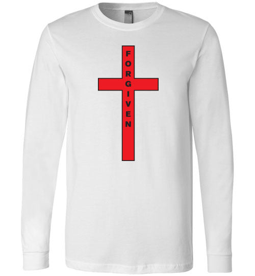 Isiah 53:5, At The Cross, Forgiven Long Sleeve T-Shirt, S-YL