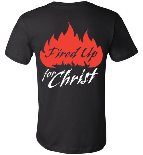 Jeremiah 20:9, Fired Up for Christ, Unisex T-Shirt - Made in USA, S-3XL