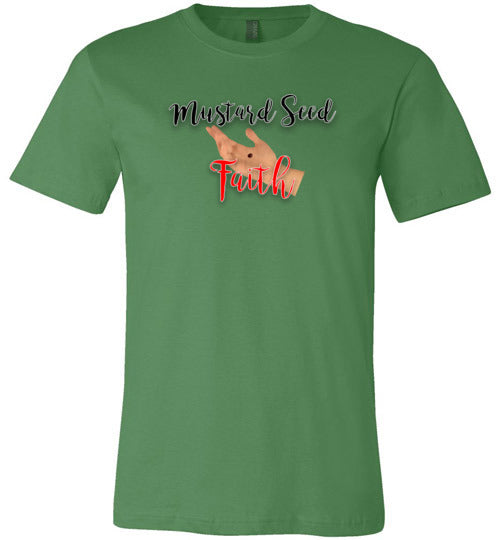 Matthew 17:20, Mustard Seed Faith, Unisex T-Shirt - Made in USA, S-3XL
