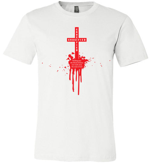 Isiah 53:5, At The Cross, Crucified Unisex T-Shirt - Made in USA, S-3XL