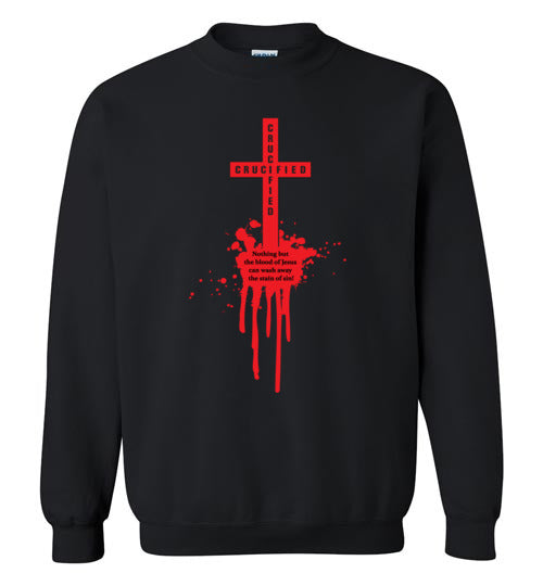 Isiah 53:5, At The Cross, Crucified Crewneck Sweatshirt, S-YL