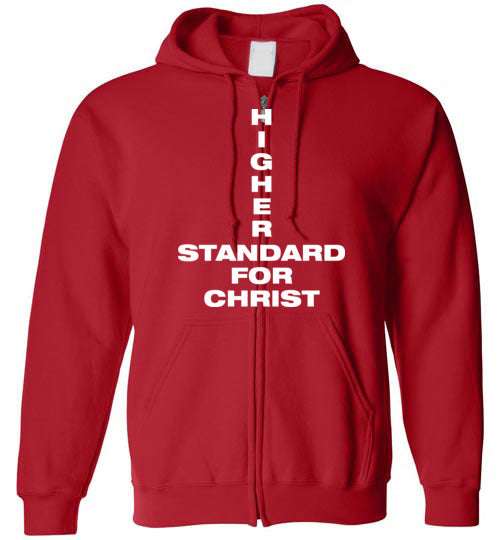 1 John 2:16, Higher Standard for Christ, Zip Hoodie, S-YXL
