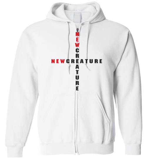 2 Corinthians 5:17, At The Cross, New Creature, Zip Hoodie, S-YXL