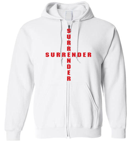 James 4:7, At The Cross, Surrender Zip Hoodie, S-YXL