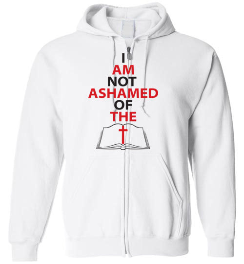 Romans 1:16, At The Cross, Not Ashamed, Zip Hoodie, S-YXL