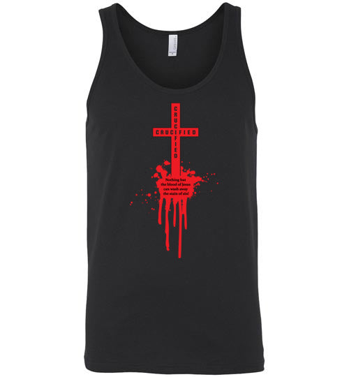 Isiah 53:5, At The Cross, Crucified Unisex Tank, S-2XL