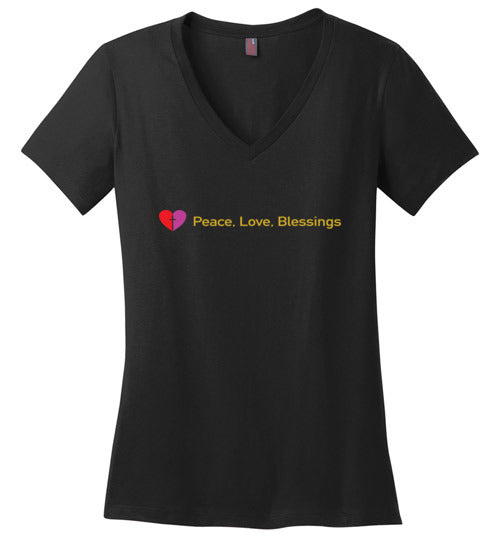 James 3:18, Peacemakers, Ladies Perfect Weight V-Neck, XS-4XL