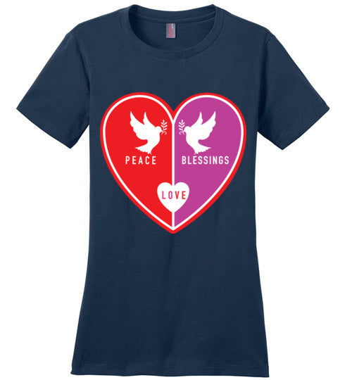 1 Corinthians 16:14, Love, Ladies Perfect Weight Tee, XS-4XL