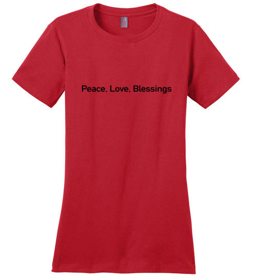John 14:27, Peace, Ladies Perfect Weight Tee, XS-4XL