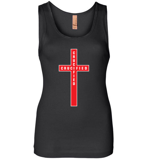 Isiah 53:5, At The Cross, Crucified Womens Jersey Tank, S-2XL