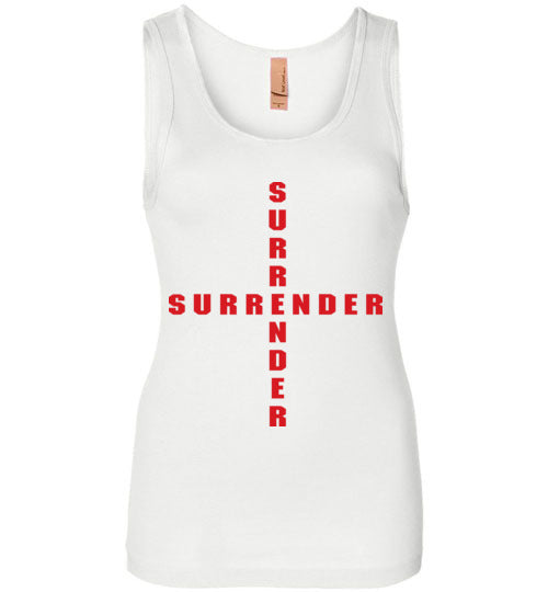 James 4:7, At The Cross, Surrender Womens Jersey Tank, S-2XL