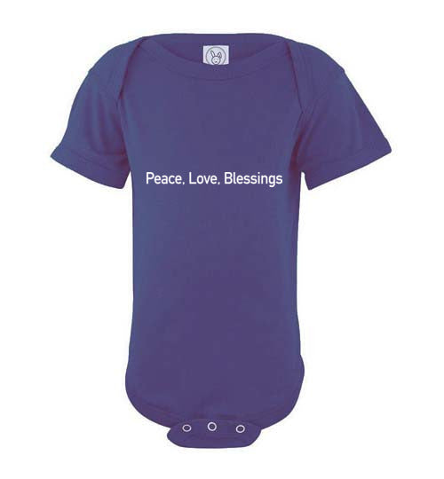 Proverbs 22:6, Train Up a Child Peace Short-sleeve Onesie, NB-24M