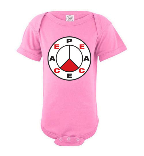 Proverbs 22:6, Train Up a Child Peace, Short-sleeve Onesie, NB-24M