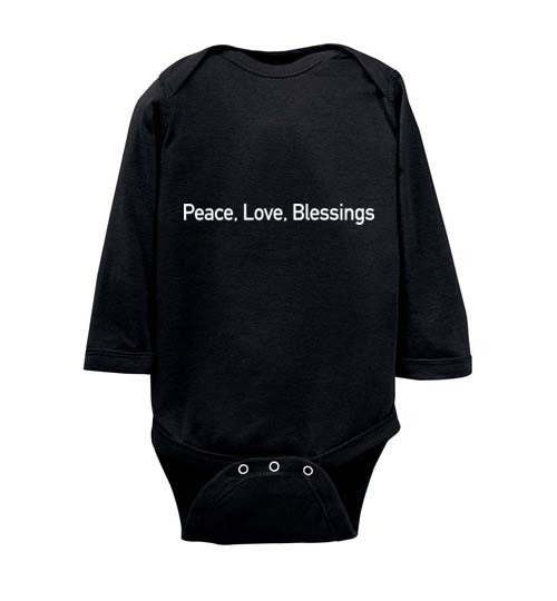 Proverbs 22:6, Train Up a Child Peace Long-sleeve Onesie, NB-24M