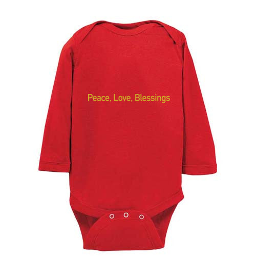 Proverbs 22:6, Train Up a Child Peace, Long-sleeve Onesie, NB-24M