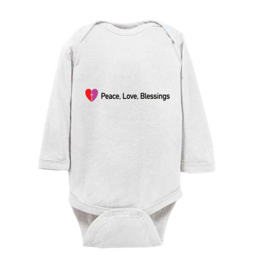 Proverbs 22:6, Train Up a Child Peacemakers, Long-sleeve Onesie, NB-24M