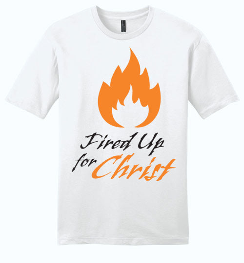 Jeremiah 20:9, Fired Up for Christ, Young Mens Very Important Tee, XS-4XL
