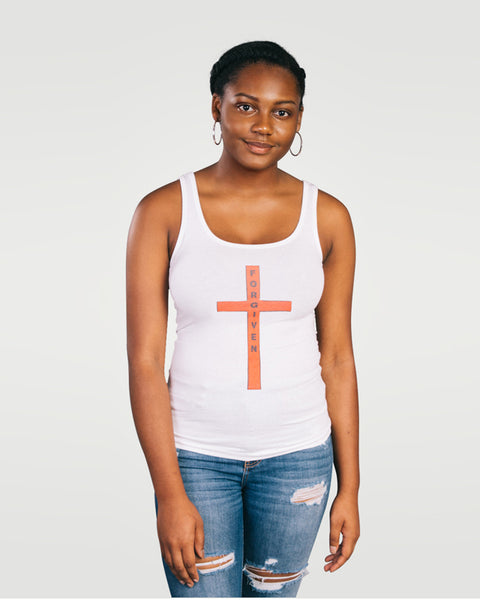 Isiah 53:5, At The Cross, Forgiven Womens Jersey Tank, S-2XL