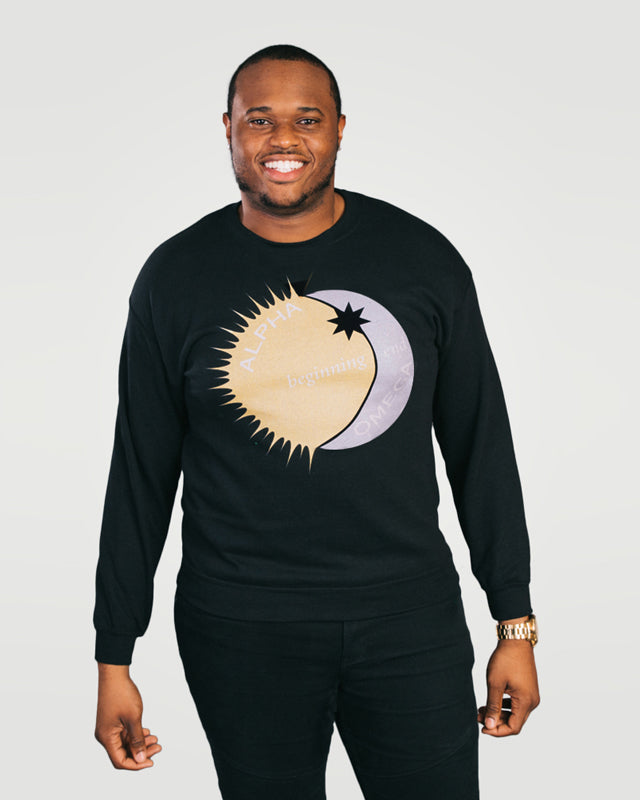 Revelation 22:13, Alpha, Omega, Beginning, End, Crewneck Sweatshirt, S-YL