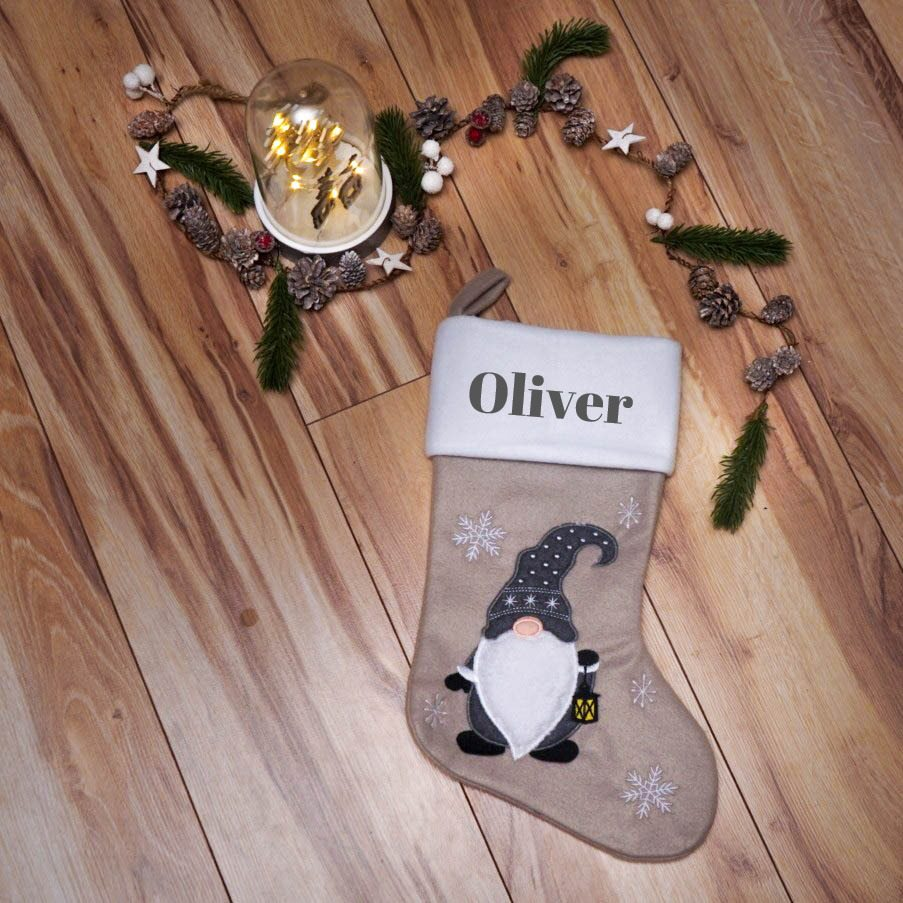 DELUX Personalised Christmas Stocking - Pixie