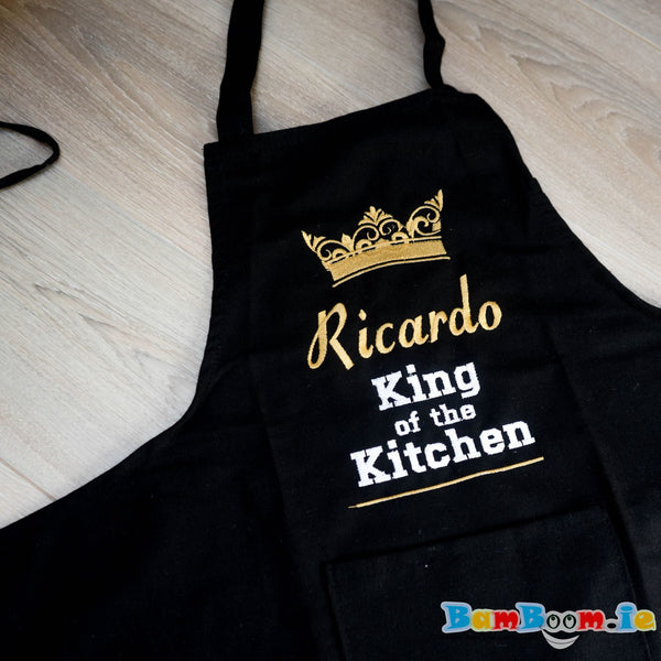 Personalised apron - king of the kitchen