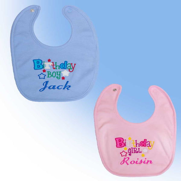 Birthday Boy or Girl bib with name