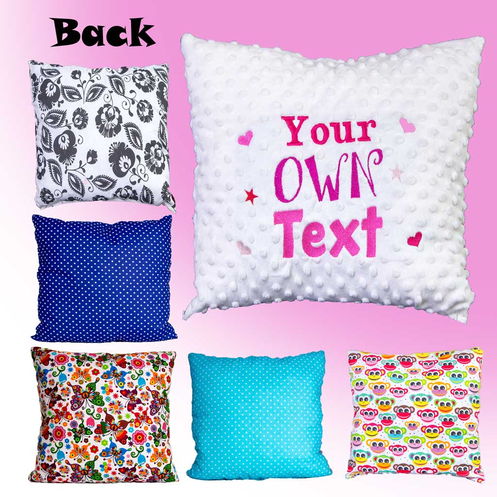 Personalised Cushion with own text 50/50 - Many Variants