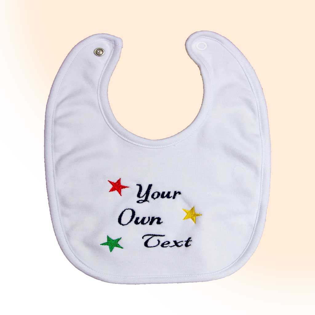 Baby Bib with Own Text