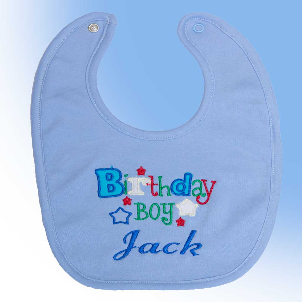 Blue personalised Bib - Birthday Boy
