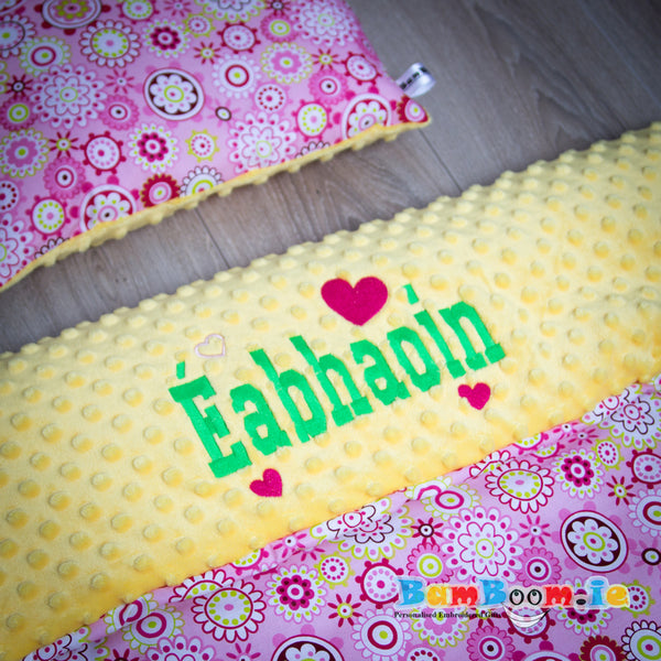 Baby Girl Blanket with Floral Pattern - 3 Sizes