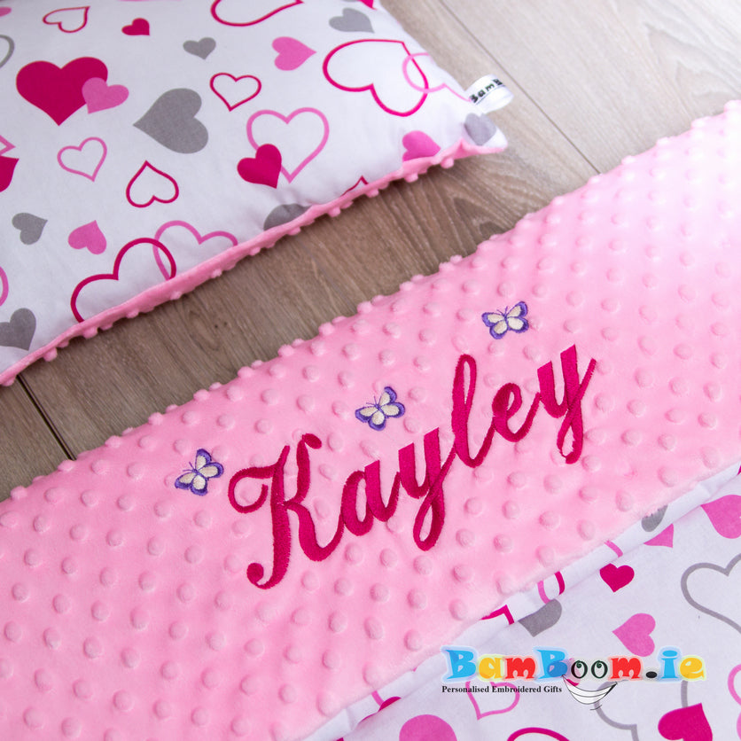 Blanket with embroidered name