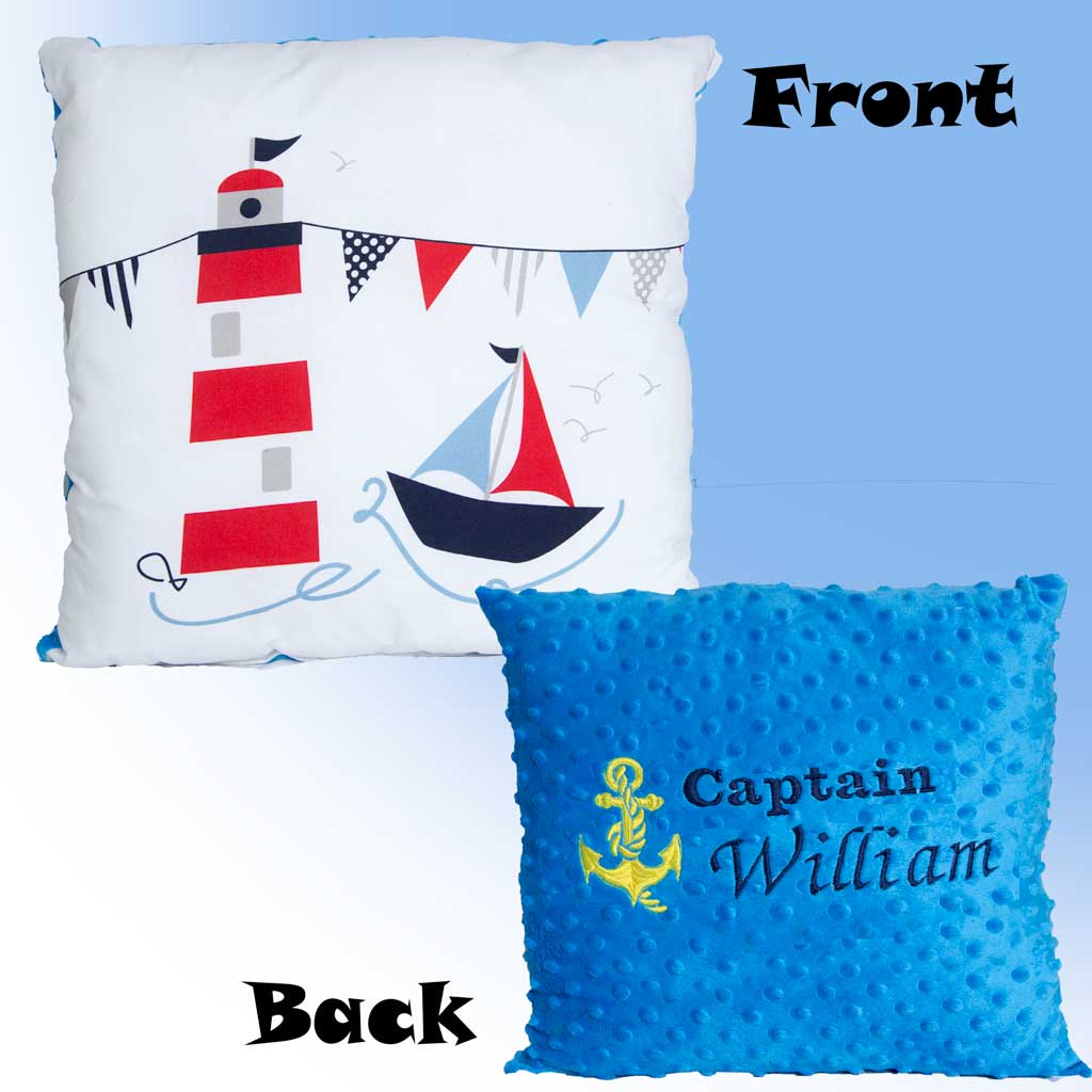Seascape Personalised Pillow - WITH ANY TEXT