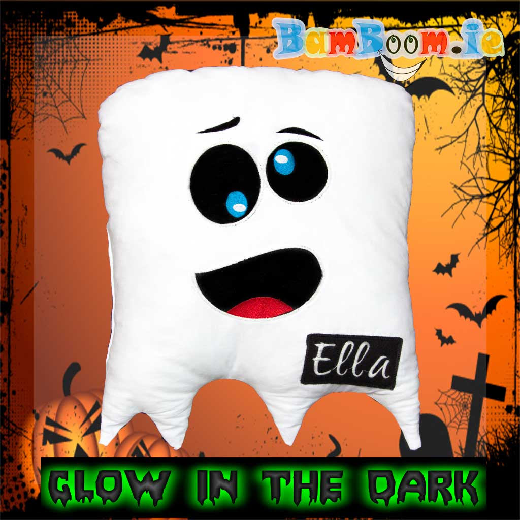 Ghost Personalised Cushion/ Pillow - GLOW IN THE DARK