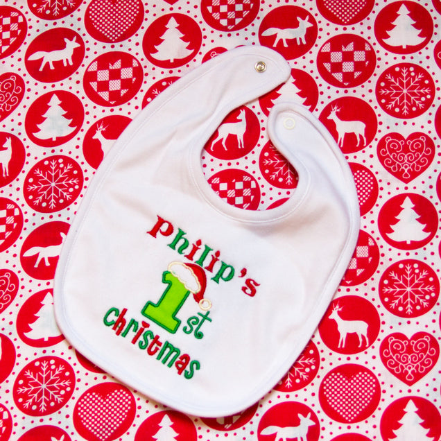 My 1st Christmas Personalised Bib