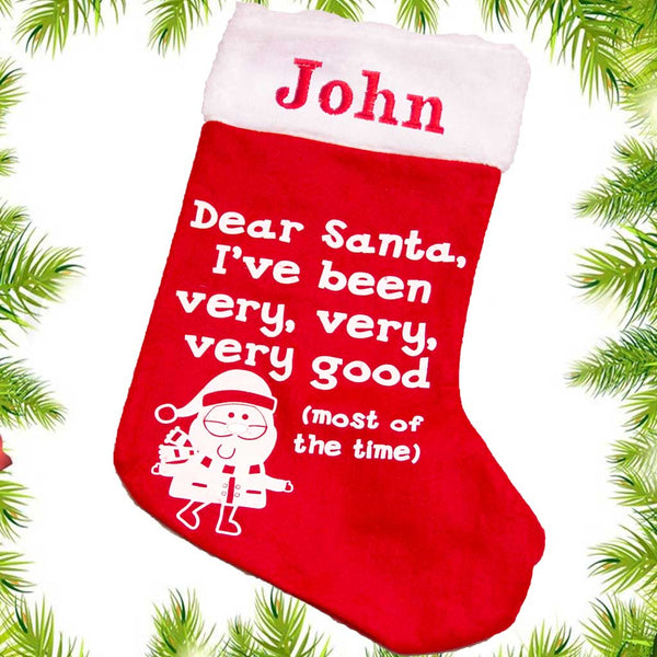 Personalised Xmas Stocking - I've been good