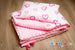 Personalised baby girl blanket with hearts