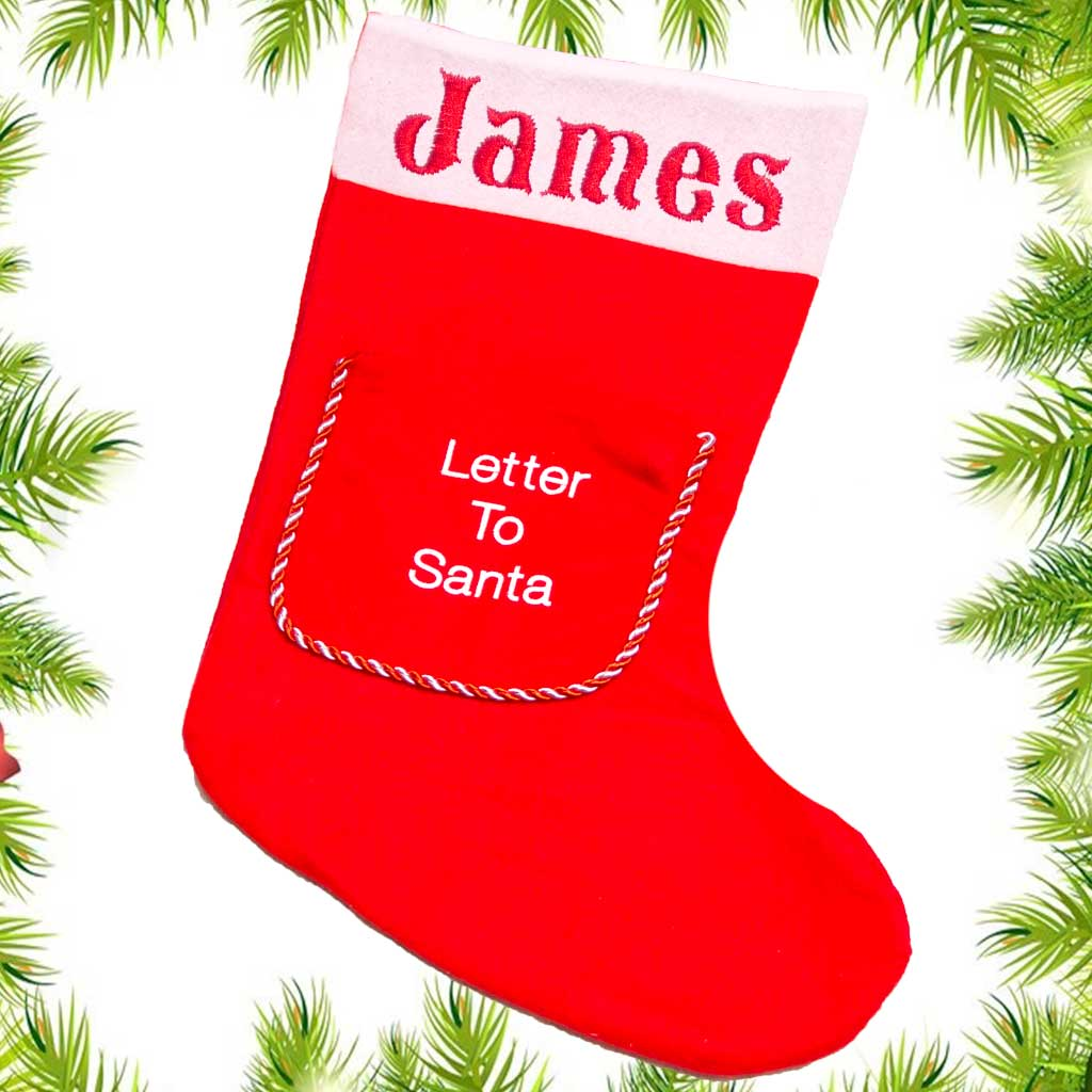 personalised christmas stocking letter to santa bamboom ie